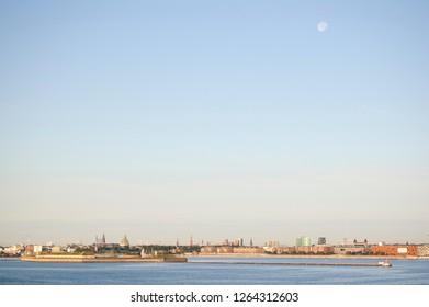 Moon over Copenhagen Denmark