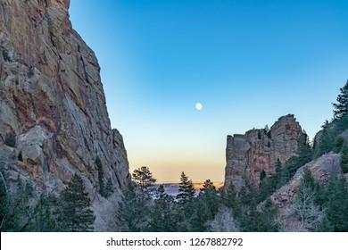 Moon Over Eldorado Canyon
