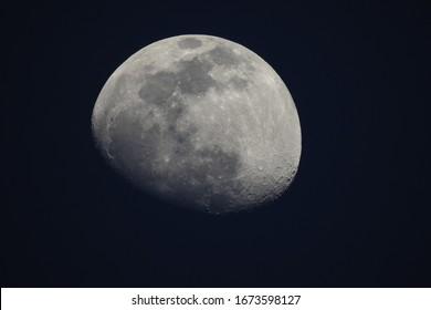 Moon over the Verde Valley in Yavapai County, Arizona.