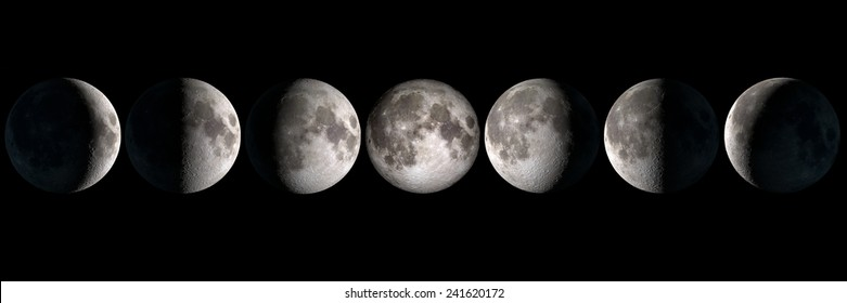 Moon phases, elements of this image are provided by NASA