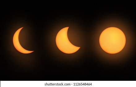 Moon phases partial lunar eclipse
