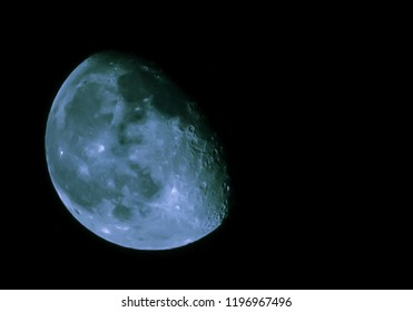Moon in September nature photography