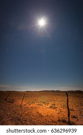 Moon shining over the Australian Outback