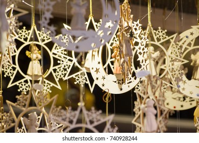 Moon and stars ornaments for Christmas
