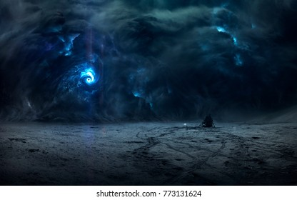 Moon storm, beautiful science fiction wallpaper with endless deep space. Elements of this image furnished by NASA