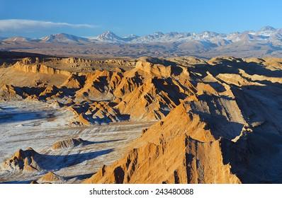 Moon valley of Atacama desert
