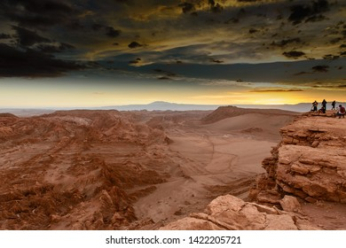Moon valley in atacama desert is one of the most visited attractions by tourists in San Pedro de Atacama Chile.