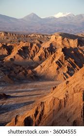 Moon Valley in Atacama désert near San Pedro de Atacama
