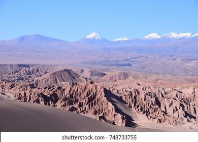 Moon valley in Chilean Atacama.
