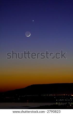 Moon Venus Conjunction Stock Photo (Edit Now) 2790823