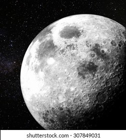 Moon view. Elements of this image furnished by NASA.