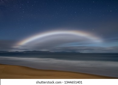 Moonbow or nocturnal rainbow