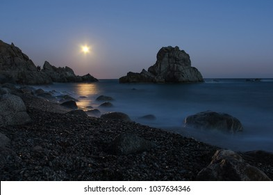 Moonlight in Calabria, Italy.