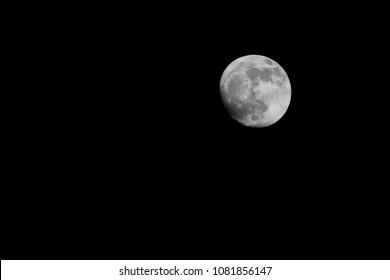 Moonlight at night, bright sky