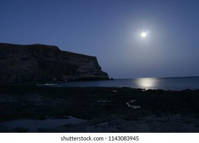 Moonlight night on the ocean