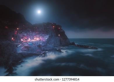 Moonlight on Manarola, Cinque Terre National Park