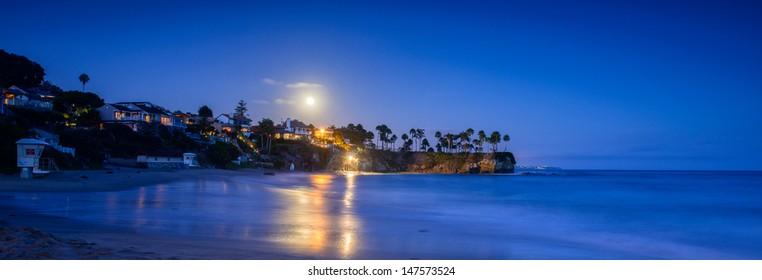 Moonlight over Laguna Beach