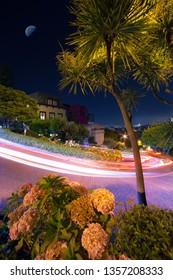 Moonlit Lombard Street
