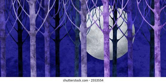 moonlit night collage