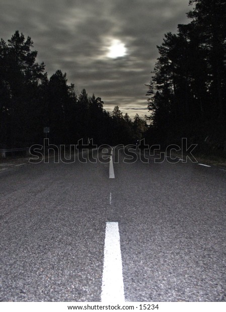 Moonlit road