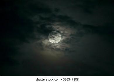 The moonlit sky.