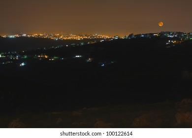 moonrise over Jerusalem