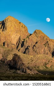 Moonrise over the Organ Mountains Desert Peaks National Monument, Las Cruces, New Mexico