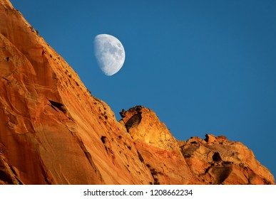 Moonrise over The Watchman - Zion National Park