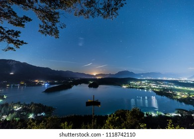 Moonset At Lake Faak In Carinthia Austria