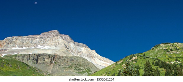 Moonset at Mount Sneffels Wilderness, Ouray, Colorado