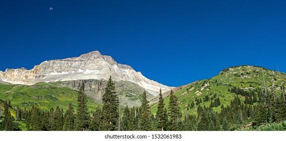 Moonset at Mount Sneffels Wilderness, Yankee Boy Basin, Colorado
