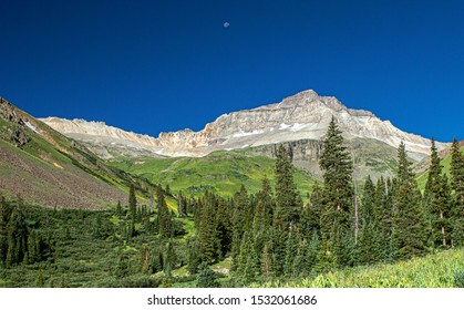 Moonset, Yankee Boy Basin, Mount Sneffels Wilderness, Ouray, Colorado