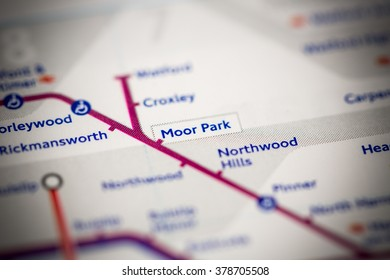 Moor Park Station. Metropolitan Line. London. UK.