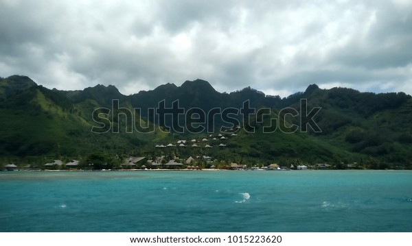Moorea Tahiti French Polynesia Lagoon Moorea Stock Photo