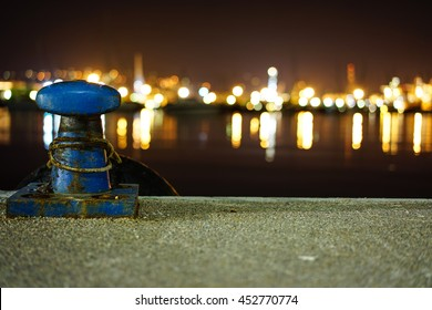 Rope lights images stock photos vectors shutterstock mooring rope with a knotted end tied around a cleat on a cement pier nautical aloadofball Gallery