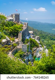 Moorish Castle scenic sight in Sintra, Portugal.