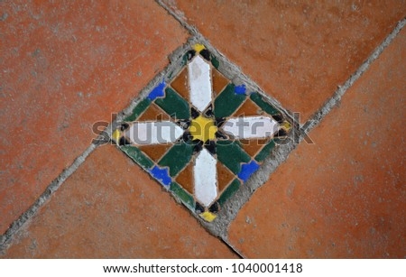 Moorish Floor Tiles Andalusia Spain Stock Photo Edit Now