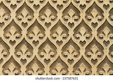 Moorish floral wall decoration, Spain