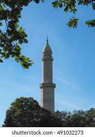 Moorish Minaret in the Lednice-Valtice Cultural Landscape Area, South Moravia, Czech Republic/Moorish Minaret in the Lednice