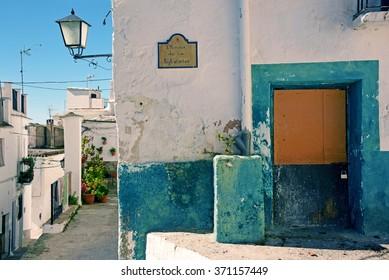 Moorish street in a small people in the Alpujarra, Granada
