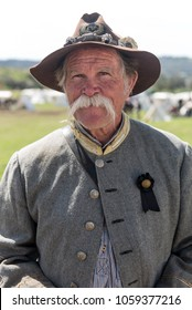 MOORPARK, CA - MARCH 18: Portrait of participant at The Blue and Gray Civil War Reenactment in Moorpark, CA is the largest battle reenactment west of the Mississippi. On March 18, 2018.