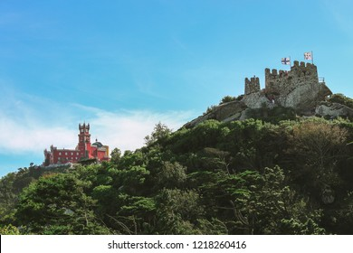 Moors castle and the Pena palace, Sintra