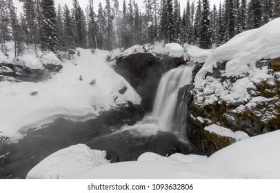 Moose Falls in Winter