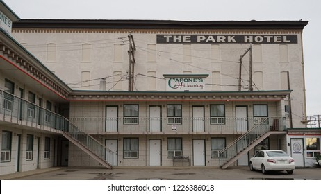 Moose Jaw,  Saskatchewan / Canada - September 13 2018: The Park Hotel vintage historical building where the gangster Al Capone used as a hideaway