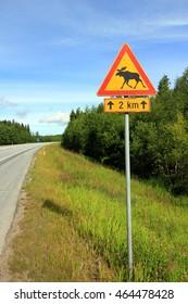 Moose traffic sign
