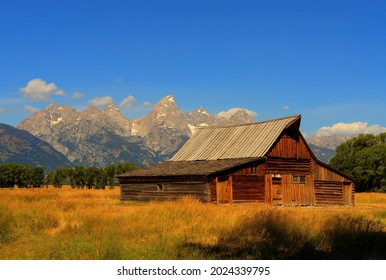 Moose, Wyoming USA:  Circa August 2008 Moulton Barn located on Mormon Row Historic District in Teton County, Wyoming