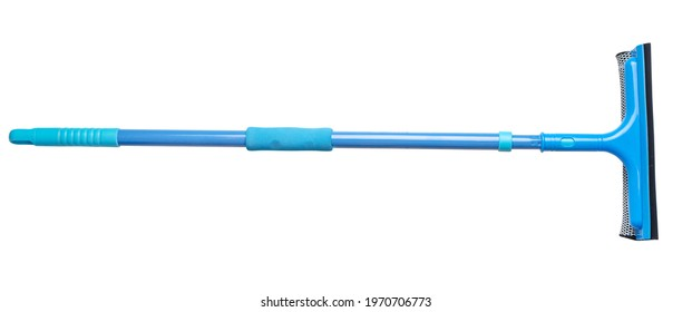 Mop for windows cleaning, mop for easy washing windows isolated on white.