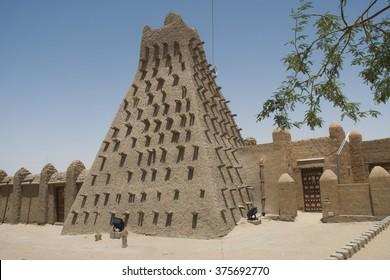 Mopti, Mali- Sept.2,2011: Mosque in Mali