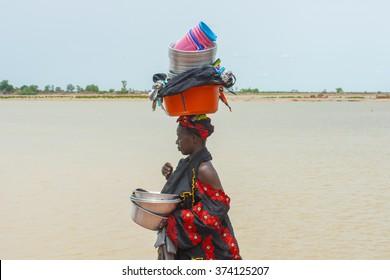 Mopti, Mali-Aug.26, 2011. Malian woman