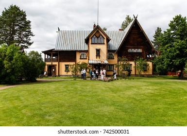 MORA, SWEDEN - JULY 7, 2015: The famous Zorn house in Mora city, Sweden